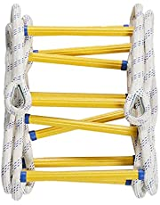 GEREP Touw Ladder Rescue Touw Ladder, Multifunctionele Ladder, Veiligheidsladder en brandladder met haken, Aanpasbare grootte/Touw Diameter: 20mm/40m/131.2ft
