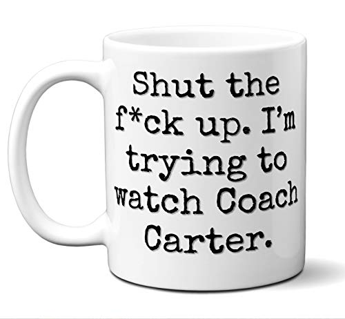 Coach Carter Gift Mug. Funny Parody Movie Lover Fan