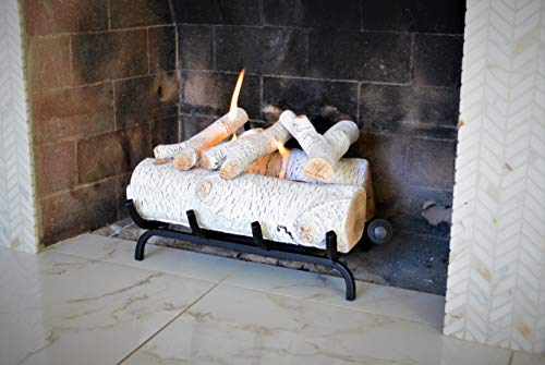 Terra Flame Gel Log Set Fireplace Insert 18 Inch White (Fireplace Gas A Venting)