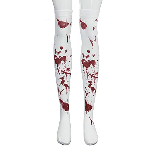 KNDDY Socks Bloody Thigh High Stockings Spider Fishnet Tights Stockings Over The Knee for Halloween]()