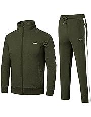 Cotrasen Men's Tracksuit 2 Piece Set Full Zip Casual Running Jogging Athletic Sweatsuit