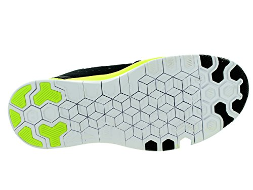Nike Mujeres Free 5.0 Running Sneaker Negro / Volt / Plata Metálica