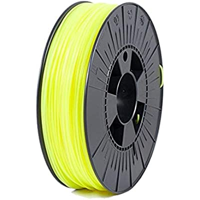 Ice Filaments ICEFIL1PLA037 Filamento PLA, 1.75 mm, 0.75 kg, Fluo Young Yellow