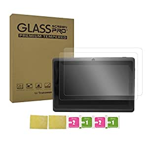 Transwon 2 Pack Tempered Glass Screen Protector Compatible