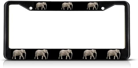 Fastasticdeals Real Elephant License Plate Frame Tag Holder Cover