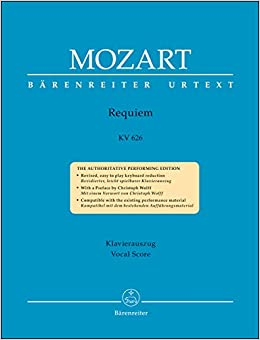 モーツァルト: レクイエム ニ短調 KV 626 (混声四部合唱) (ラテン語) /原典版/ノヴァーク編: ヴォーカル・スコア/ベーレンライター社/合唱作品