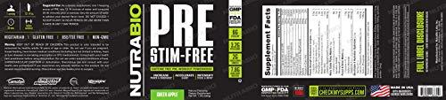 NutraBio PRE Stim Free - Caffeine Free Pre Workout (Green Apple) by NutraBio (Image #2)