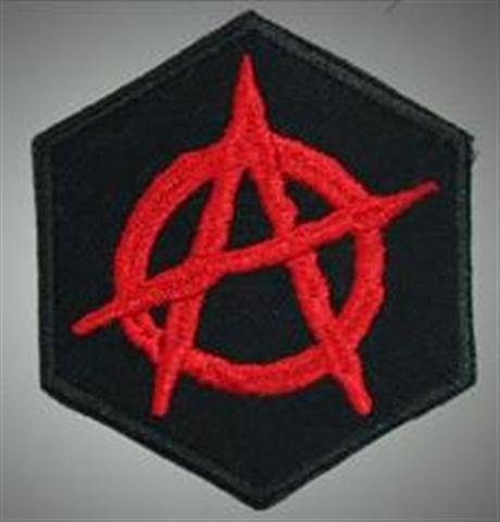 Anarchy - embroidered back patch, BUY 3 GET 4, 8 X 8 (INCHES)