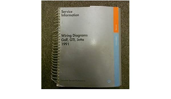 1991 VW Golf GTI Jetta Service Information Wiring Diagram Shop ... Og Cell Phone Ringer Wiring Diagram on