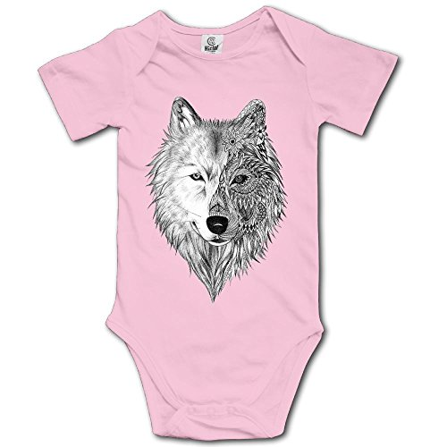 Baby Climbing Clothes Set Wolf Head Bodysuits Romper Short Sleeved Light Onesies]()
