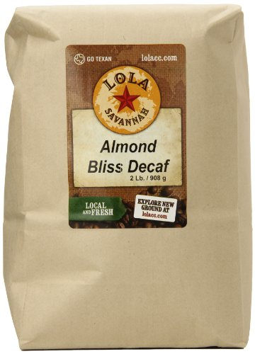 (Lola Savannah Almond Bliss Ground Coffee - Flavored Blend of Crunchy Almond, Toasted Coconut & Rich Chocolate | Indulge Your Palate | Decaf | 2lb Bag)