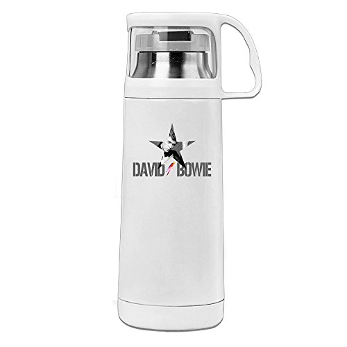 Beauty David Bowie Thermos Cup Mug With A Handle Vacuum Insulated Cup For Hot And Cold Drinks Coffee,Tea Travel Thermal Mug,14oz White