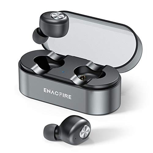 Wireless Earbuds, ENACFIRE E18 Plus Bluetooth Earbuds with Wireless Charging Case CVC8.0 3D Stereo Sound Deep Bass IPX8 Waterproof 8H Super-Long Battery Duration