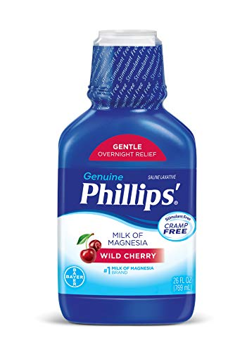 - Phillips' Milk of Magnesia Laxative (Wild Cherry, 26-Fluid-Ounce Bottle)