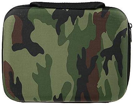 Camouflage Medium Case ideal f/ür Reisen und zu Hause TEKCAM Tragetasche wasserdichte EVA-Schutzh/ülle f/ür GoPro Hero 6 5//Akaso//Apeman//DBPOWER//SOOCOO//Crosstour 4K wasserdichte Action-Kamera