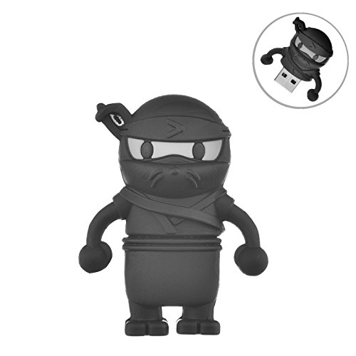 (Flash Drive 32GB, Memory Stick Pen Drive USB2.0 AreTop Cute Cartoon Miniature Ninja Shape Thumb Drives for Date Storage Gift for School Students Kids Children Boys)