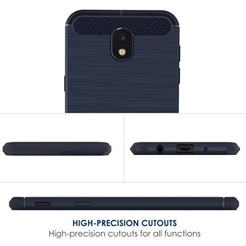 Funda Samsung Galaxy J5 2017, Simpeak Fundas Samsung J5 2017 carcasa galaxy j5 2017 funda Gel Silicona Premium TPU(5,2 Pulgadas),Azul Azul