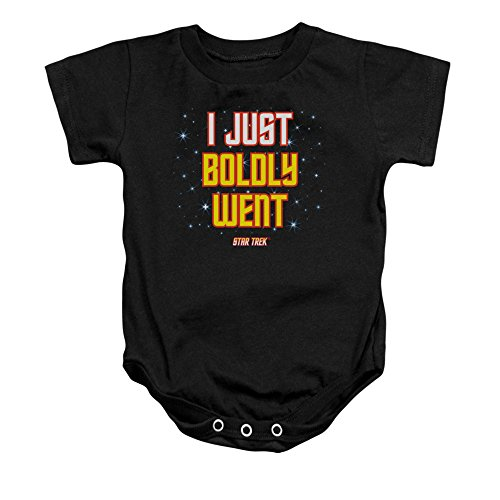 Star Trek Next Generation TV Show Boldly Went Black Baby Infant Romper Snapsuit