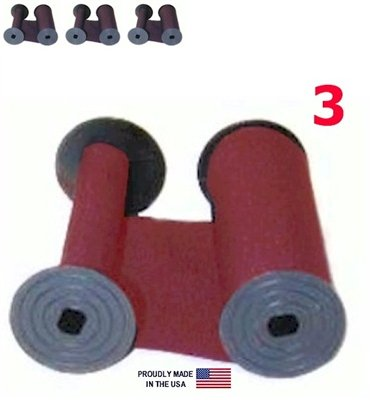 3-Pack, DBP Rapidprint AR-E, 5650 Time Stamp Ink Ribbon, RED Cotton
