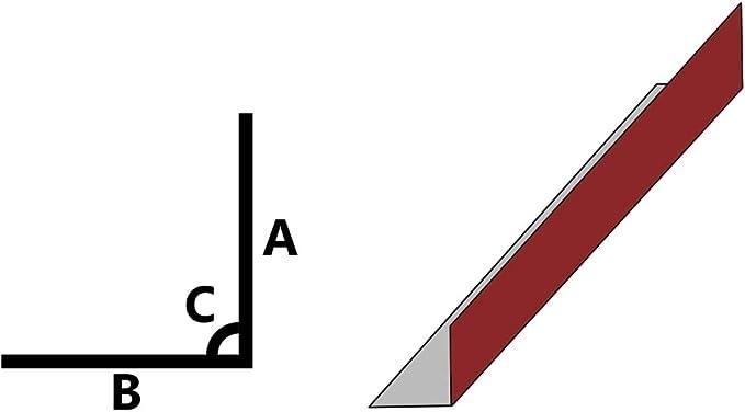 vidaXL 5x Listones de Escalera Forma de L Cantonera Protector Pelda/ño Laminado Borde Escal/ón Perfil de Seguridad Aluminio Champ/án 90 cm