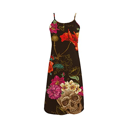 Customizable Morphsuits (Women's Sugar Skull Dia De Los Muertos Polyester Casual Slip Dress XL)