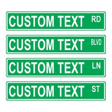 mdrqzdfh Eletina intern Custom Signs Indoor , Custom 416 Green Street Sign, Small Garden Customize