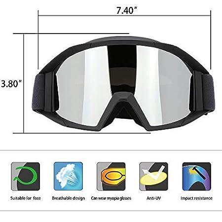 12 Color JAMIEWIN Adult Motorcycle Motocross Goggles ATV Racing Goggles Dirt Bike Mx Goggle Glasses and Ski Snowborading