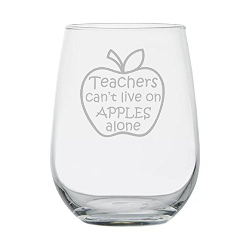 - Gift for Teacher - Teachers Can't Live on Apples Alone - Teacher Appreciation - Dishwasher Safe - Graduation Gifts - High School - College Professor - End of School - Back to School