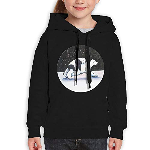Qiop Nee Comical Panda and Bear Unisex Hoodie Print Long Sleeve Sweatshirt for Girls' by Qiop Nee