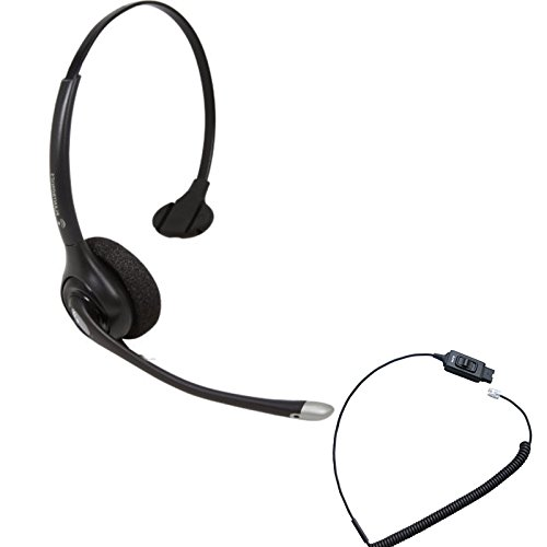 Avaya Telephone Compatible Headset Plantronics HW251N Bundle w/Mute - Avaya IP Phones: 1608, 1616, 9601, 9608, 9610, 9611, 9611G, 9620, 9620C, 9620L, 9621, 9630, 9640, 9640G, 9641, 9650, 9650C, 9670 ()