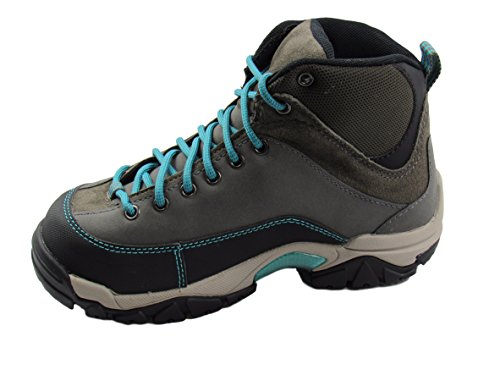 Hytest Womens Apex Hiker Steel Toe, Electrical Hazard, Slip and Oil Resistant Work Boots (Grey) (10 C/D ()