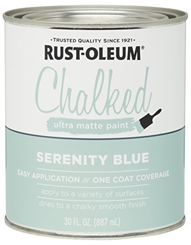Rust-Oleum 285139 Ultra Matte Interior Chalked Paint 30 oz, Serenity Blue (Best Turquoise Paint Color For Furniture)