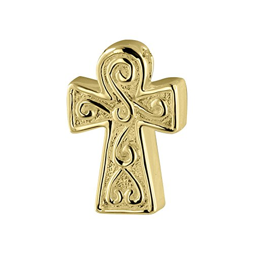 Perfect Memorials Angus Cross 14k Gold Vermeil Cremation Jewelry Gold Vermeil Keepsake Urn