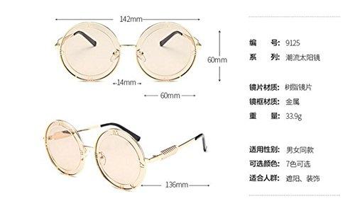en métallique polarisées lunettes soleil Thé retro Lennon vintage inspirées rond du cercle style Léger de xxzPSwEqp