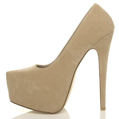 Damen Sehr Hoher Absatz Verdeckter Plateausohle Party Pumps Schuhe Größe 7 40
