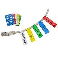 Etiqueta autoadhesiva para cables Mr-Label - Impermeable | Resistente al desgarro | Duradero - con la herramienta de impresión en línea - para impresora láser (10 hojas (300 etiquetas), multicolor)