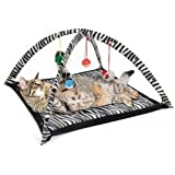 Cat Activity Play Mat with Hanging Toy Balls, Mice & More - Helps Cats Get Exercise & Stay Active By Tzipco's Brand