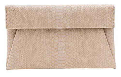 bys2mr Women's Clutch Purse Bags – Flat Envelope Faux Croc Leather Crossbody Evening Party Wedding Handbag with Chain…