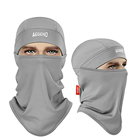 Balaclava, Aegend Ski Face Mask Polyester Fleece for Women Men Youth Neck Warmer for Motorcycle Snowboard Cycling Outdoors in Winter Tactical Balaclava Hood or Lightweight Windproof Hat-Grey, 1 - Winter Balaclava