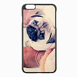iPhone 6 Plus Black Hardshell Case 5.5inch - pug puppy dog boots Desin Images Protector Back Cover