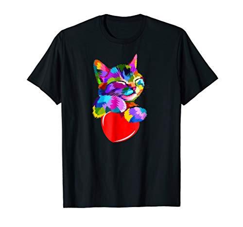 Colorful Cat Pop Art Style, Cute Kitten Halloween Gift Idea for $<!--$16.99-->