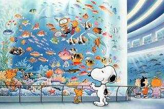 1000 Piece Snoopy Aquarium 10-521