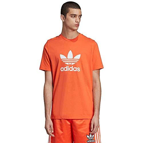 adidas Originals Men's Trefoil Tee Shirt, True orange, Large