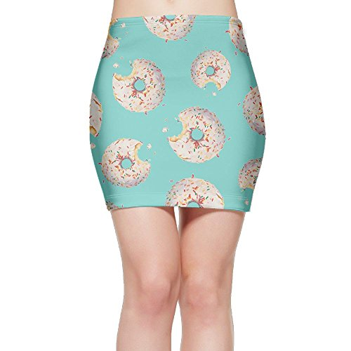 SKIRTS WWE Eaten-Doughnuts Women Package Hip High Waisted Mini Short Skirts by SKIRTS WWE