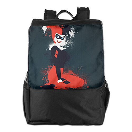 Harley Quinn Outdoor Camping/ Hiking/ Travel Backpack, Multipurpose Daypack Book Bag For Men & Women