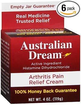 Australian Dream Arthritis Pain Relief Cream - 4oz, Pack of 6
