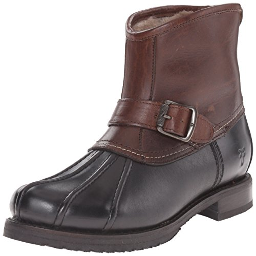FRYE Women's Veronica Duck Engineer Winter Boot, Black/Multi, 6.5 M US