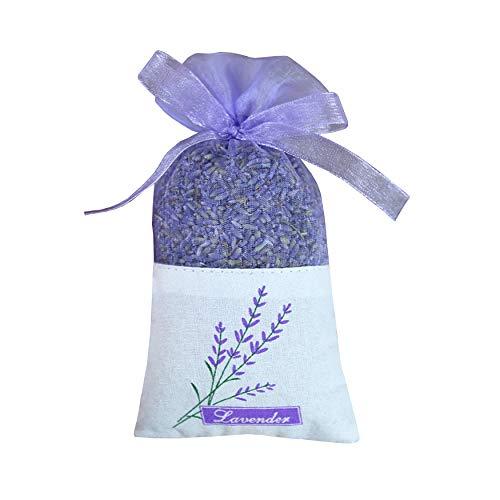 - Sanrich 50PCS Lavender Sachet Bags Empty Purple Gauze Ribbons Cotton-Ramie Sacks (Light Purple)
