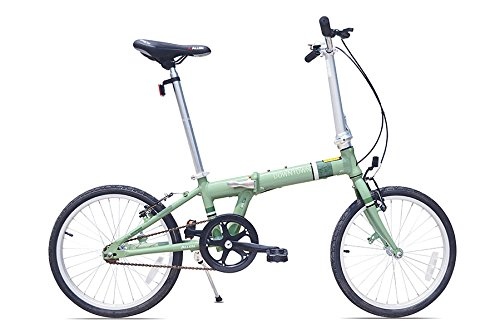 Allen Sports Downtown Aluminum 1 Speed Folding Bicycle, Green, 12-Inch/One Size (Racks Bicycle Allen)