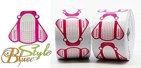 Guias - Moldes , uñas de gel, acrylicos 500 unidades-SUMMER - Rollo de plantilla para esculpir uñas acrílicas o de gel - Blucc Style